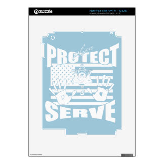 Please Protect And Serve Decal For iPad 3