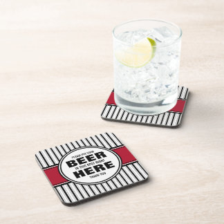 Please Put Your Beer HERE! Home Bar Coaster Set