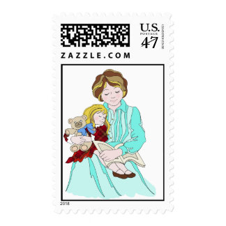 Please Read Me a Bedtime Story Postage Stamp