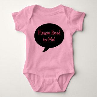 Please Read to Me! Baby Bodysuit