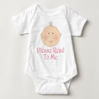 Please Read To Me Baby Girl Read Aloud Gift Baby Bodysuit