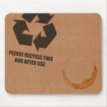 """""""please recycle box"""" cardboard mouse mat mouse pad"""