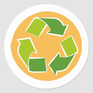 Please Recycle Classic Round Sticker