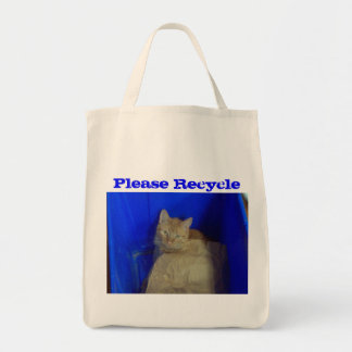 Please Recycle - Cute Cat Photography Tote Bag