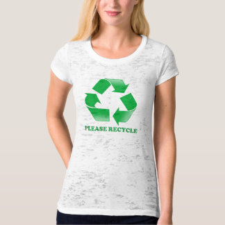 Please Recycle Cute Shirt For Chicks