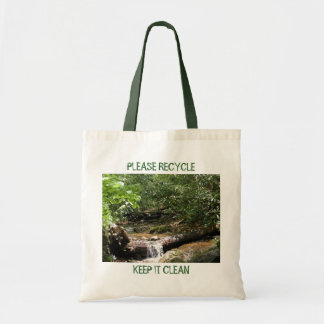 PLEASE RECYCLE, KEEP IT CLEAN CANVAS BAG