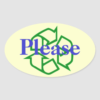 Please Recycle Message Sticker