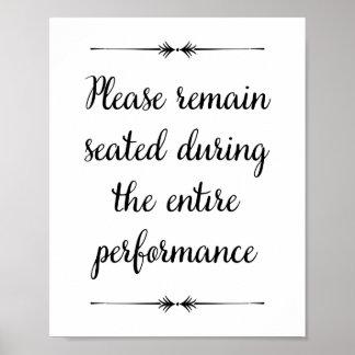 Please Remain Seated Bathroom Print