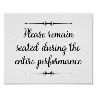 Please Remain Seated Bathroom Print - Landscape