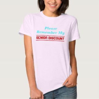 Please Remember My Senior Discount T-Shirt