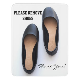 Please Remove Shoes Door Sign