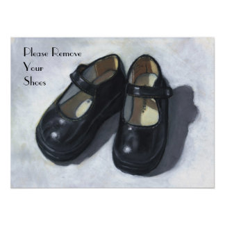 Please Remove Your Shoes: Oil Pastel Art Poster