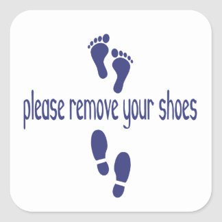 Please Remove Your Shoes with feet sticker