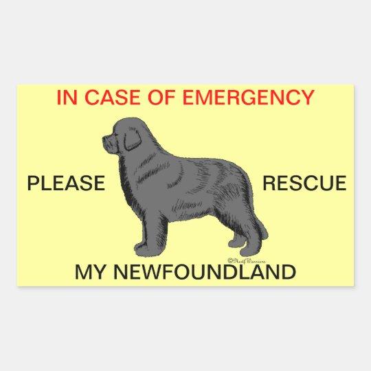 Please Rescue My Newfoundland Emergency Sticker