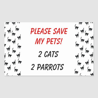 Please Save My Pets! Rectangular Stickers