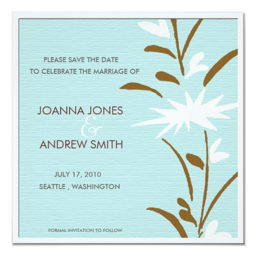 Please Save the date -floral Card