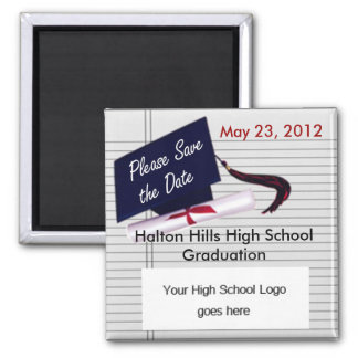 Please Save the Date Graduation Magnet