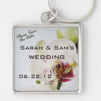Please Save the Date Orchid Keychain