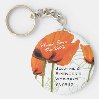 Please Save the Date Poppies Deco Keychain
