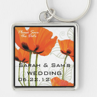 Please Save the Date Poppies Keychain