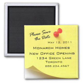 Please Save the Date Post It Magnet