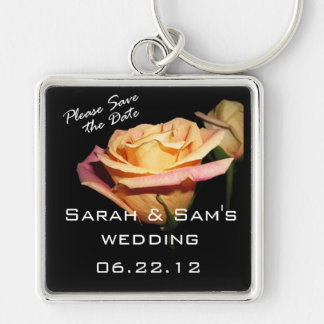 Please Save the Date Rose Keychain