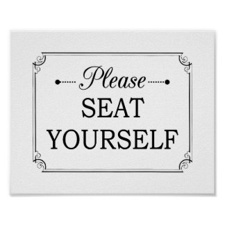 Please Seat Yourself Bathroom Poster