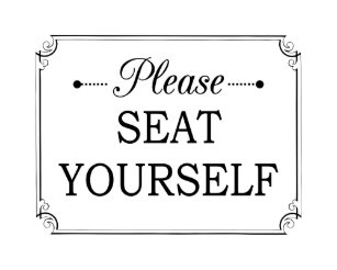 please seat yourself funny bathroom poster - Funny Bathroom Art