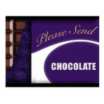 Please send chocolate post cards