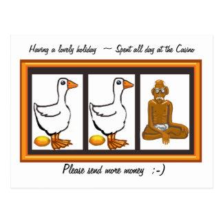 Please send money postcard