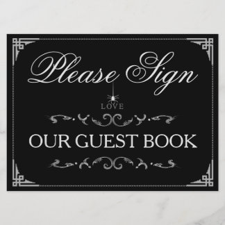 Please Sign GuestBook Halloween Spider LOVE Sign