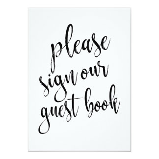 Please Sign Our Guest Book Affordable Sign Card
