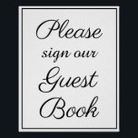 "Please sign our guest book sign<br><div class=""desc"">Please sign our guest book sign</div>"