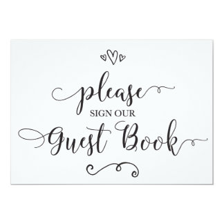 Please Sign Our Guest Book Wedding Sign Card