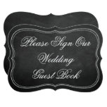 Please Sign Our Wedding Guest Book Chalkboard Sign Card