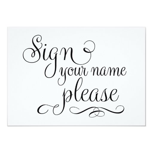 Please Sign Wedding Sign, Card