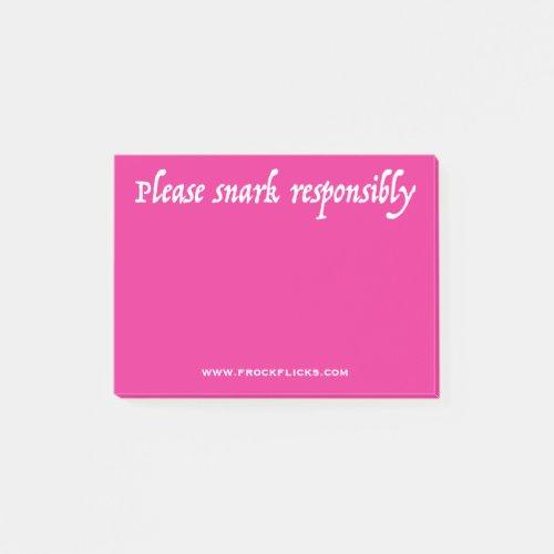 Please Snark Responsibly _ Sticky Notes