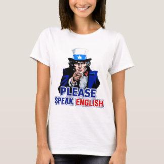 Please Speak English Ladies Baby Doll T-Shirt