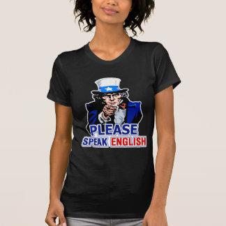Please Speak English Ladies Dark T-Shirt