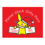 Please Stack Gifts Here Postcards