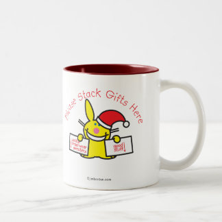 Please Stack Gifts Here Two-Tone Coffee Mug