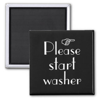 Please Start Washer magnet template