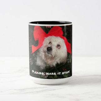 Please Stop holiday myg Two-Tone Coffee Mug