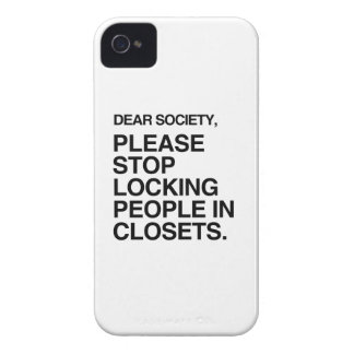 PLEASE STOP LOCKING PEOPLE IN CLOSETS Case-Mate iPhone 4 CASES