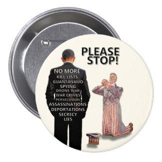 Please Stop! Pinback Button