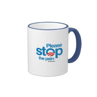 Please stop the pain ringer coffee mug