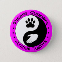 Please Support Animal Rights Button