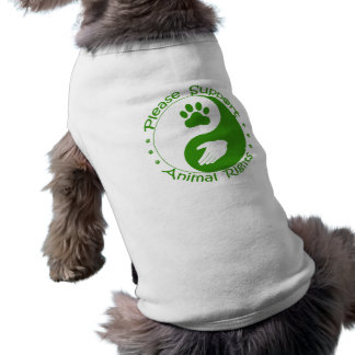 Please Support Animal Rights Pet Sweater Tee