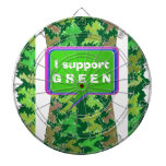 Please support GREEN Dartboard With Darts