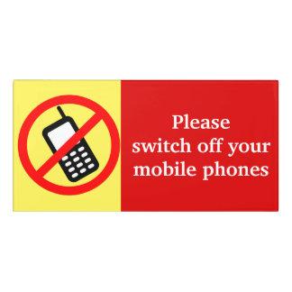Please Switch Off Your Mobile Phones Door Sign